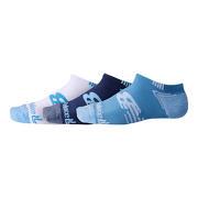 NB No Show Run Sock 3 Pair, Blue
