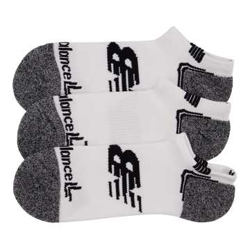 New Balance No Show Run Sock 3 Pair, White