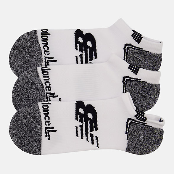 NB No Show Run Socken 3er Pack, LAS44223WT