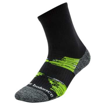 New Balance Trail Run Short Crew Socks, Black