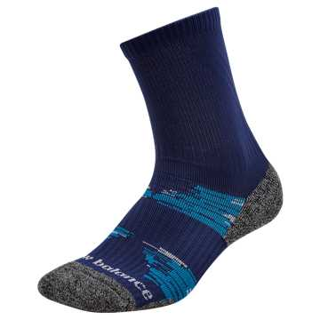 New Balance Trail Run Short Crew Socks, Blue