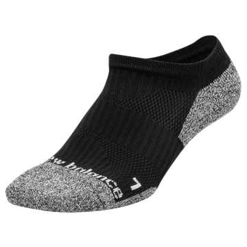 New Balance Cushioned No Show Socks, Black