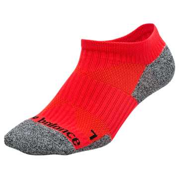 New Balance Cushioned No Show Socks, Flame