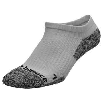 New Balance Cushioned No Show Socks, Grey