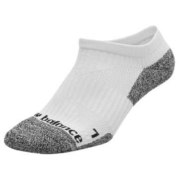 New Balance Cushioned No Show Socks, White