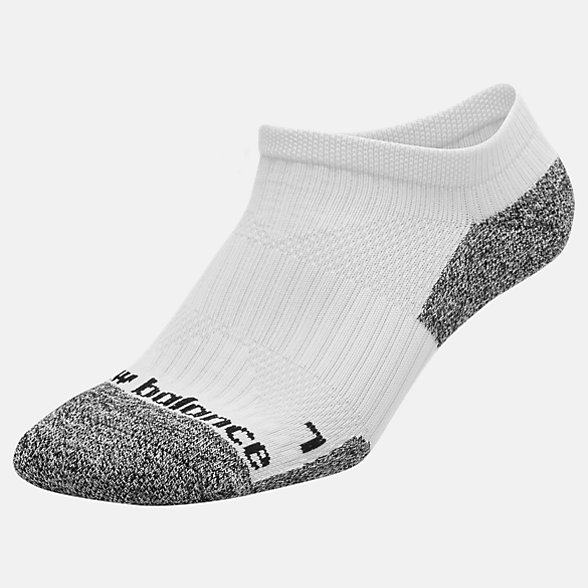 New Balance Cushioned No Show Socks, LAS54321WT