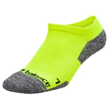 New Balance Cushioned No Show Socks, Yellow