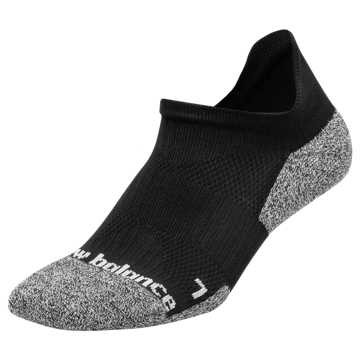 New Balance Run Foundation Cushioned No Show Tab Sock 1 Pair, Black
