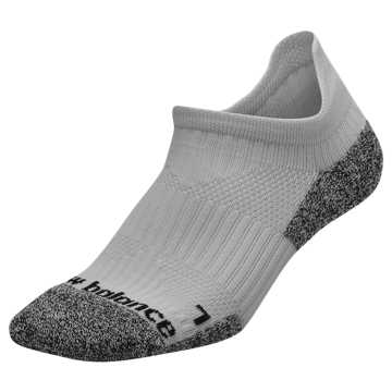New Balance Cushioned Tab No Show Socks, Grey