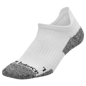 New Balance Cushioned Tab No Show Socks, White