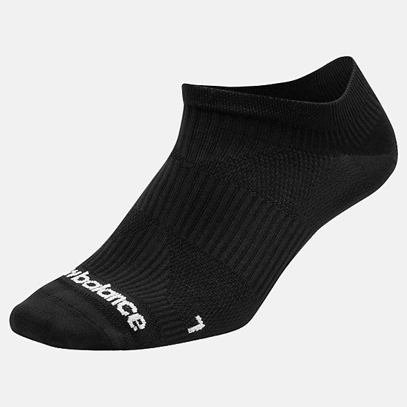 NB Run Flat Knit No Show Socks, LAS55321BK