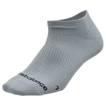 New Balance Run Flat Knit No Show Socks, Grey