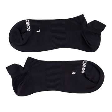 New Balance Run Flat Knit Tab No Show Socks, Black