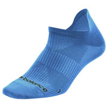 New Balance Run Flat Knit Tab No Show Socks, Blue