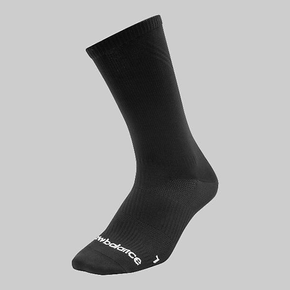 New Balance Run Flat Knit Crew Socks, LAS55561BK