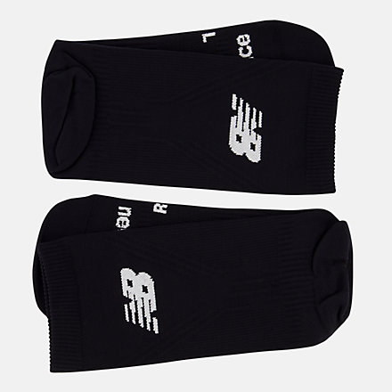 NB Run Flat Knit Crew Socks, LAS55561BK image number null