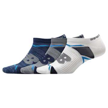 New Balance Elite Sport No Show Sock 3 Pair, Blue