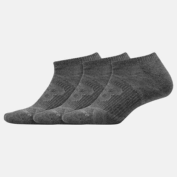NB Chaussettes Performance No Show 3 Pack, LAS61123DKG