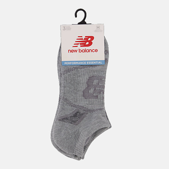 NB Performance No Show Socks 3 Pack, LAS61123LGH