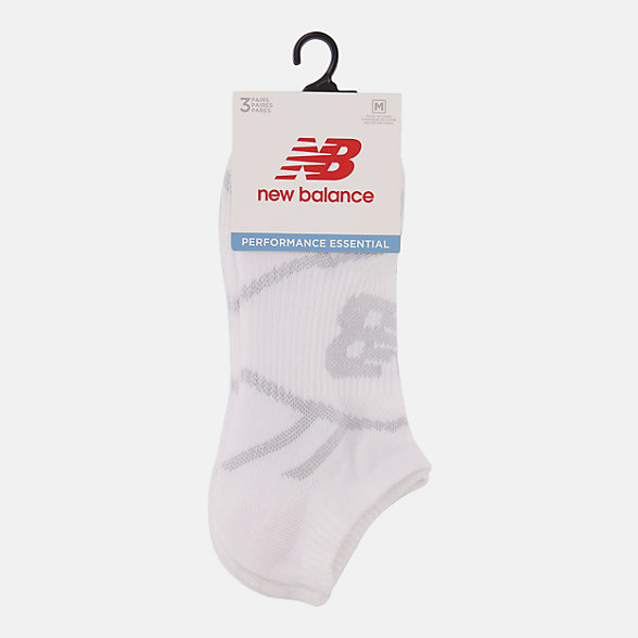NB Chaussettes Performance No Show 3 Pack, LAS61123WT