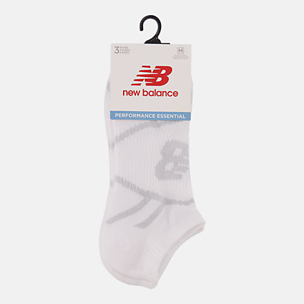 NB Performance No Show Socks 3 Pack, LAS61123WT image number null