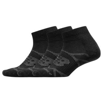 New Balance Performance Ankle Sock 3 Pair, Black