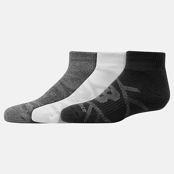 NB Kids Performance Ankle Socks 3 Pair, LAS67633GML