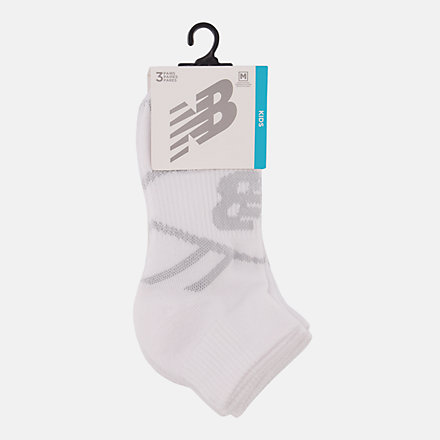 NB Kids Performance Ankle Socks 3 Pair, LAS67633WT image number null