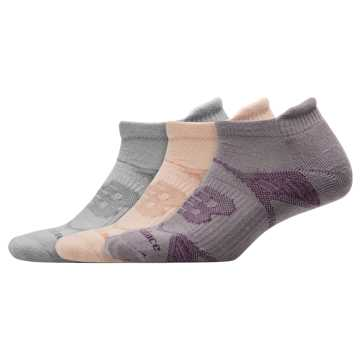 New Balance Performance Tab Socks 3 Pack, Light Grey Heather