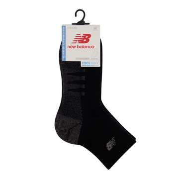 New Balance Coolmax Quarter Sock 2 Pair, Black