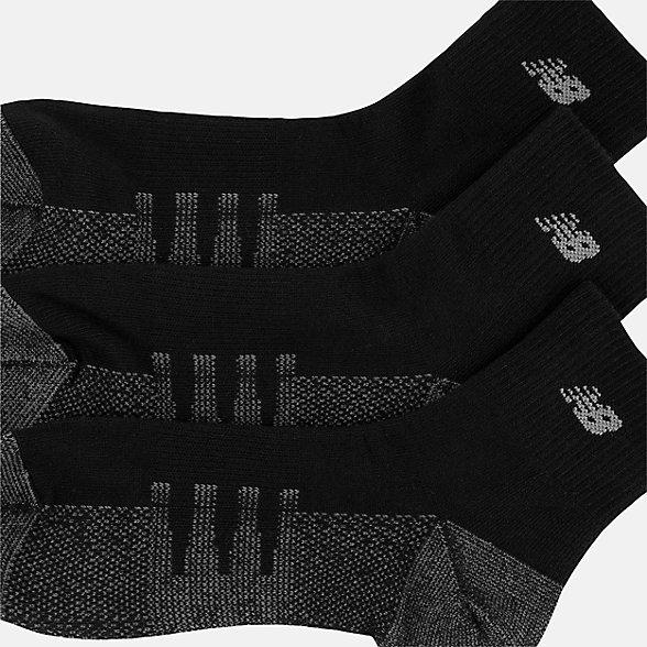 New Balance Coolmax Quarter Socks 2 Pair, LAS70332BK