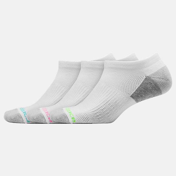 NB Cushioned No Show Socken 3er Pack, LAS82623WT