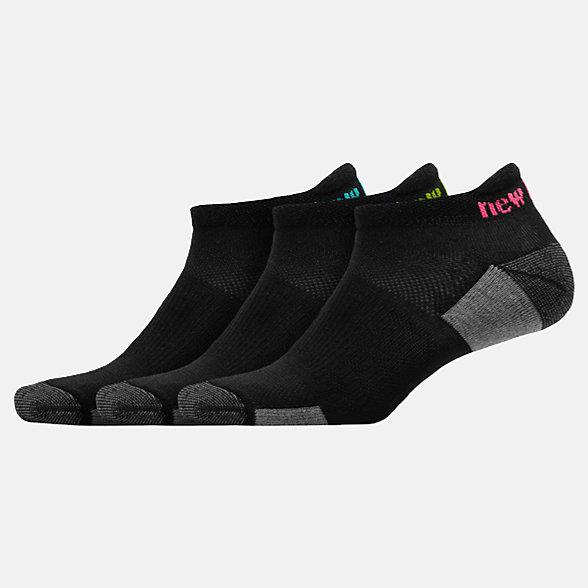 NB Cushioned Tab Socks 3 Pack, LAS82853BK