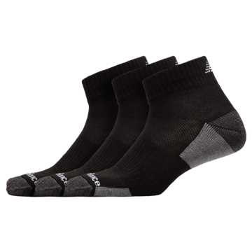 New Balance Essentials Cushioned Ankle Socks 3 Pack, Black