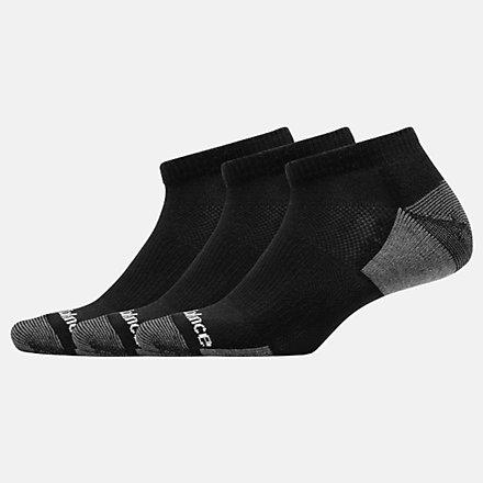NB Mens Essentials Cushioned Low Cut Sock 3 Pair, LAS83573BK image number null