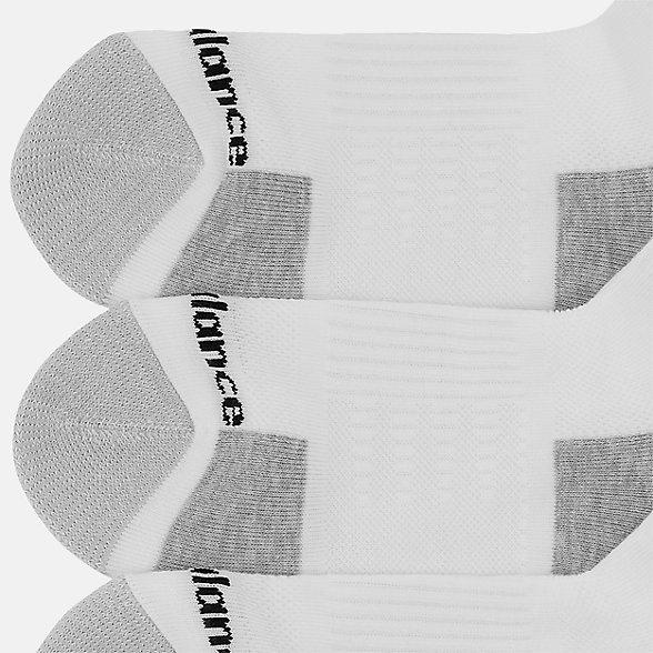 New Balance Cushioned Low Cut Socks 6 Pack, LAS83576WT