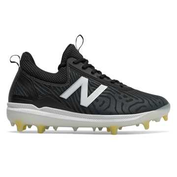New Balance FuelCell COMPv2, Black with White & Lemon Slush