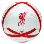 New Balance LFC Training Ball, White with High Risk Red & Amber Yellow