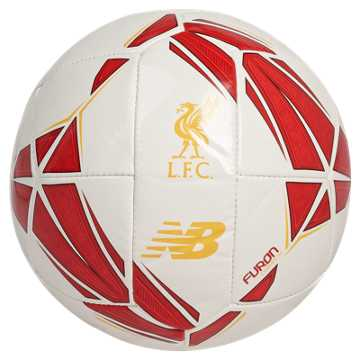 New Balance Liverpool FC Dispatch Mini Football, White with Red