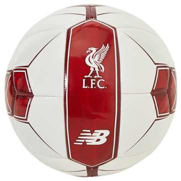 New Balance Liverpool FC Dispatch Ball, White with Red