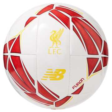 New Balance Liverpool FC Dynamite Hi-Vis Football, White with Team Red