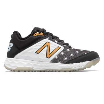 New Balance Limited Fresh Foam 3000v4 Turf, Black with White & Gold