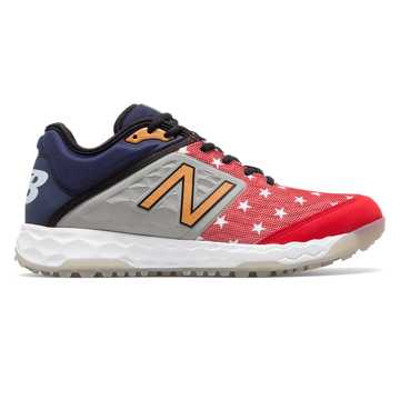 New Balance Limited Fresh Foam 3000v4 Turf, Red with Grey & Gold