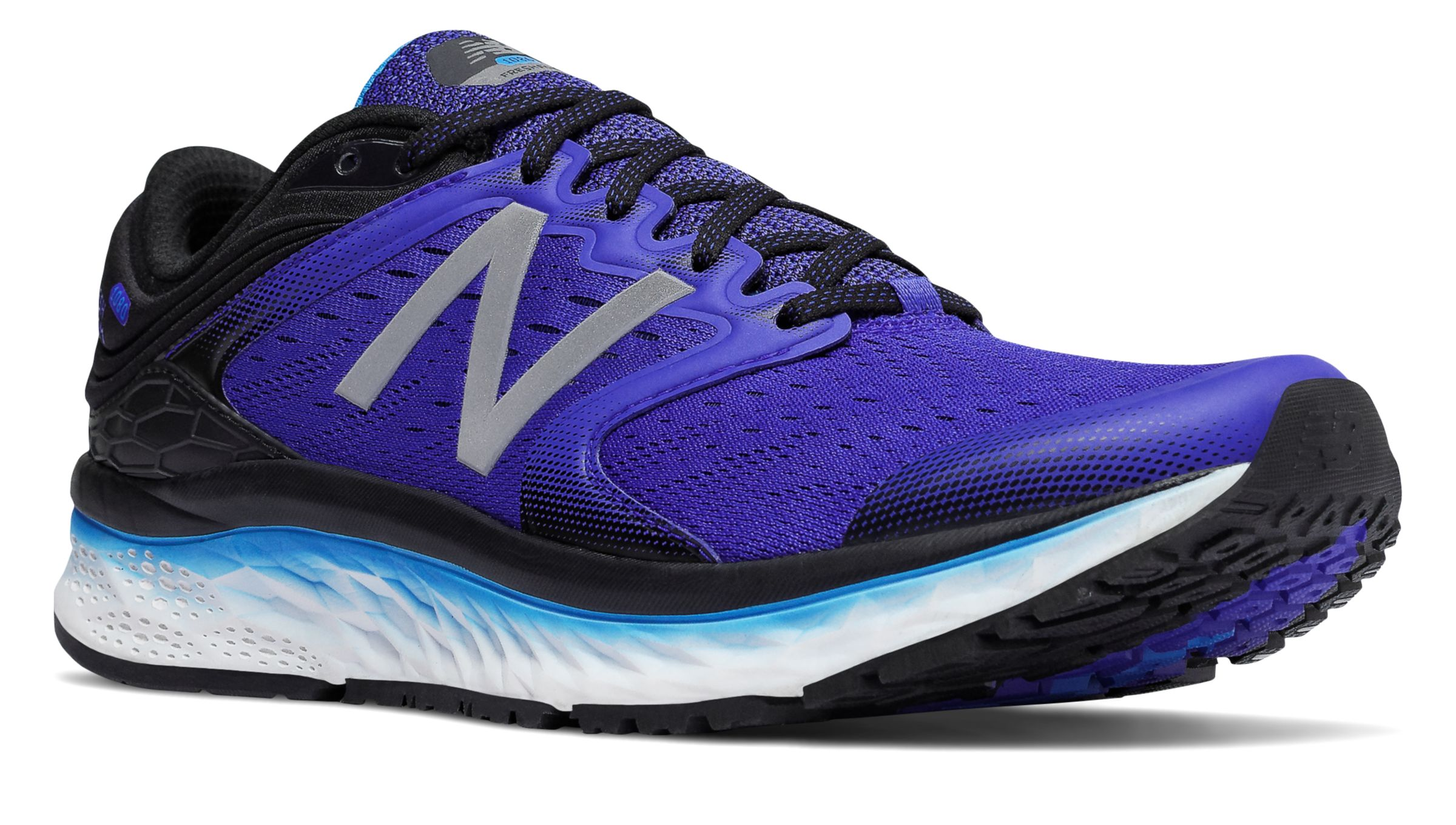 NB Fresh Foam 1080v8, Pacific with Black & Maldives Blue