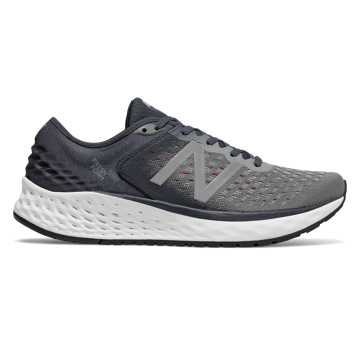 New Balance Fresh Foam 1080v9, Gunmetal with Outerspace & Energy Red