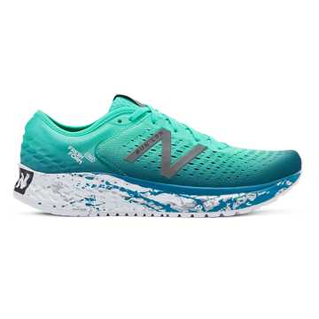 New Balance Fresh Foam 1080v9 London Marathon, Neon Emerald with Dark Neptune