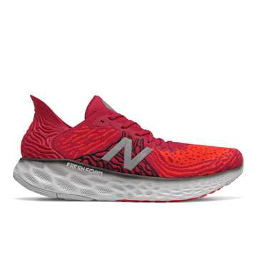 New Balance Fresh Foam 1080v10, Neo Crimson with Neo Flame & Black