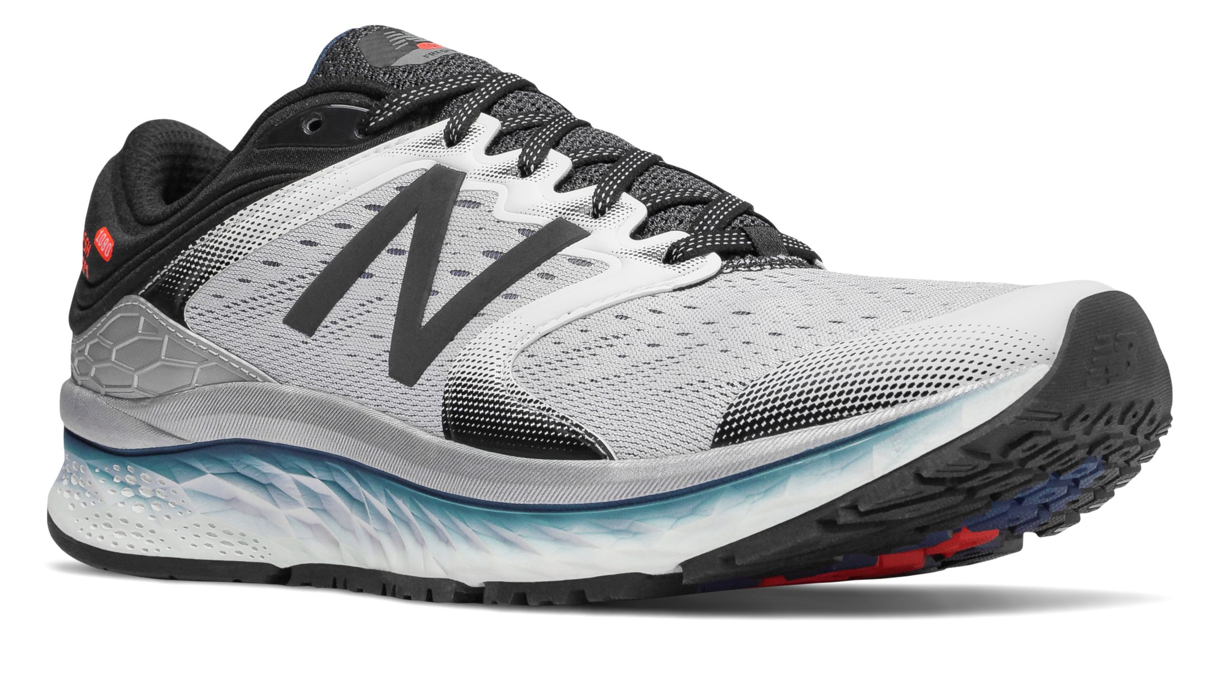 NB Fresh Foam 1080v8, White with Black & North Sea