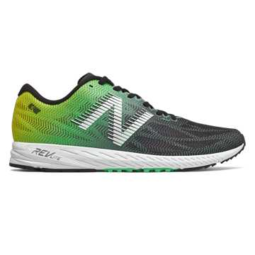 New Balance 1400v6, Black with Neon Emerald & Hi Lite