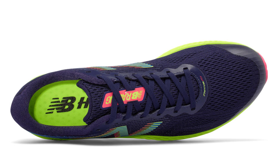 NB New Balance 1400v5, Dark Denim with Electric Blue & Lime Glo